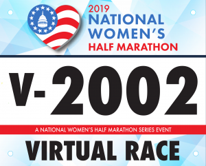 2019 National Virtual Half Marathon Race Bib